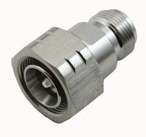 Straight RF Coaxial Connector 4.3/10 Male Connector to N Type Female Adapter