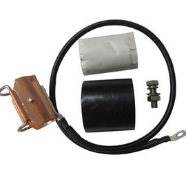 Cina Copper Coaxial Cable Grounding Kit, Komponen IBS Earth Clamp Untuk 15/8 ″ pabrik